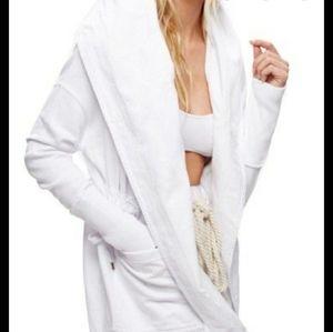 Free people brentwood hooded cardigan